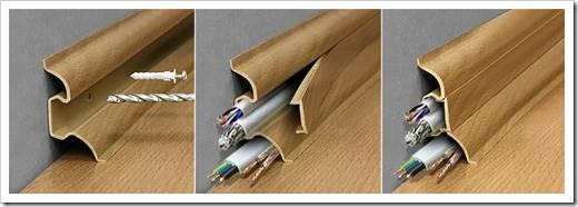 Использование плинтуса в качестве кабель канала