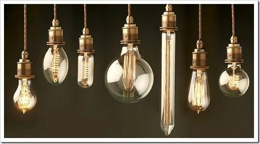 Наиболее распространённые мощности ламп Эдисона