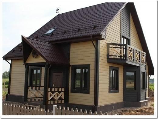 Процессы и этапы при отделке фасада частного дома сайдингом