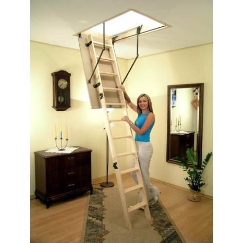 Как установить лестницу на чердак