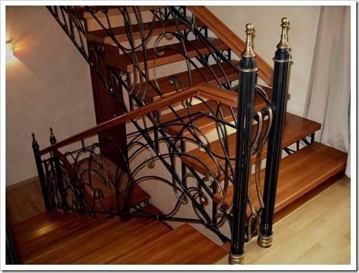 Какие бывают кованые лестницы