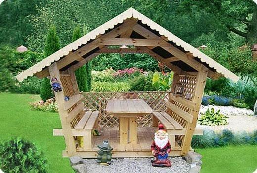 Как построить садовую беседку