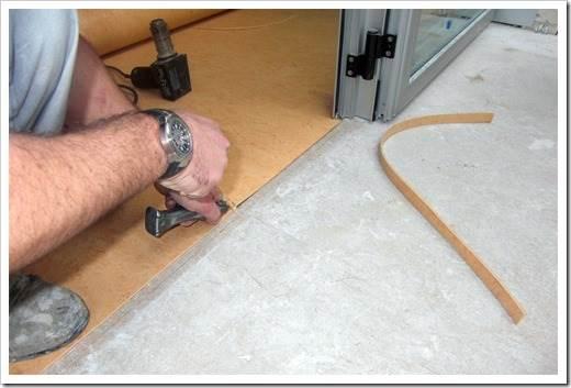 Укладка линолеума на бетон своими руками