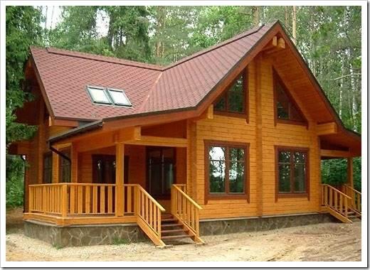 Комфортный дом из профилированного бруса