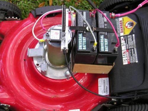 Газонокосилка от электричества