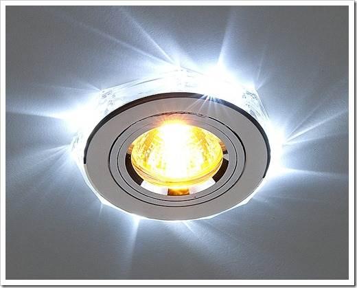 Как светильники закрепляются в отверстии?