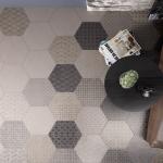 Как выложить шестигранную плитку
