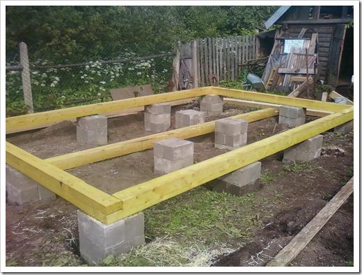Установка бани на фундамент