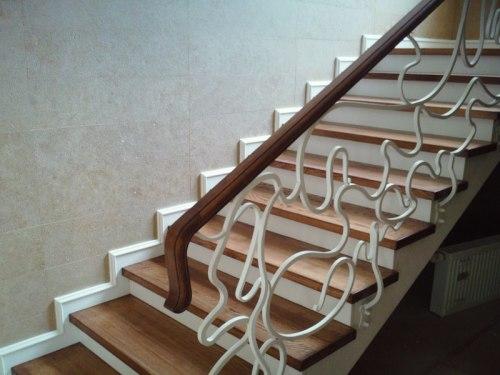отделка лестницы бетонной