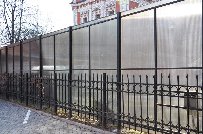 Как сделать забор из поликарбоната