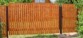 Как сделать забор на даче