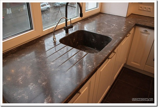 Столешница на кухню из бетона