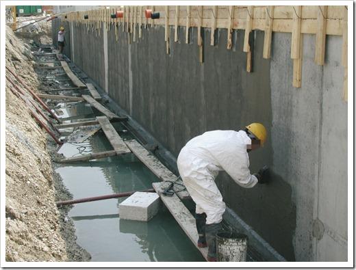 Штукатурная и проникающая гидроизоляции