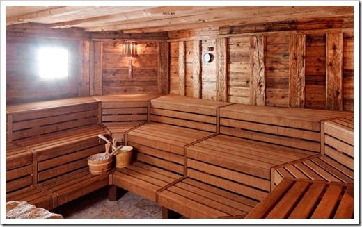 Предбанник и другие помещения в бане