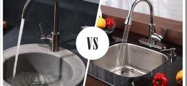 Какая мойка лучше: нержавейка или искусственный камень?