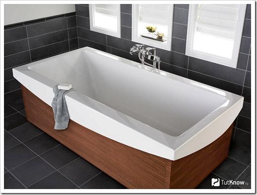 Правильная эксплуатация и уход за акриловой ванной