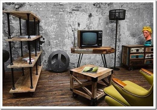 Создаём мебель в стиле лофт самостоятельно
