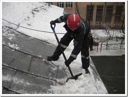 Монтаж греющего кабеля на крышах