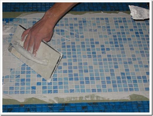 Предварительная подготовка поверхности для монтажа мозаики