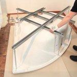 Как установить акриловую ванну на каркас