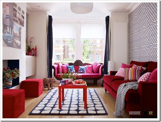 Яркие оттенки в мягкой мебели