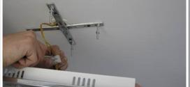 Как крепятся накладные светильники на потолок