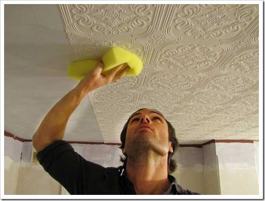 Флизелиновые обои на потолок – идеальный вариант