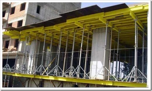 Усиленная конструкция объёмных стоек