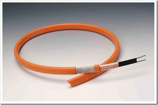 Какой температуры достигает греющий кабель?