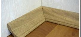 Как стыковать деревянный плинтус в углах