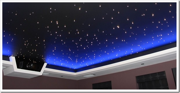 Натяжной потолок Звездное небо - как это делают
