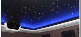 Натяжной потолок Звездное небо — как это делают
