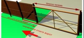 Как сделать откатные ворота на даче