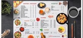 Как печатают меню для кафе и ресторанов