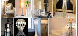 Виды оригинальных настольных ламп и торшеров