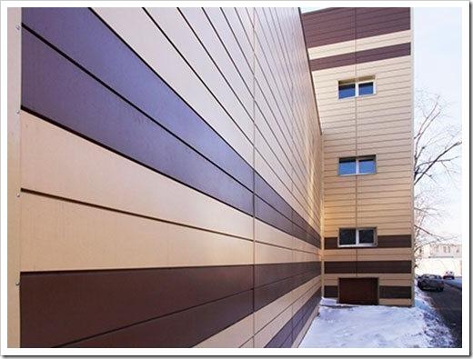 Линеарные панели для отделки фасада