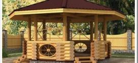 Как строят деревянные беседки?