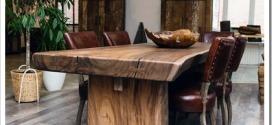Преимущества столов из массива дерева