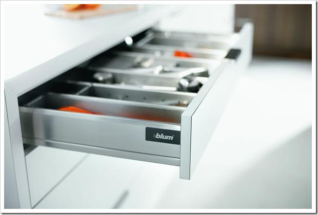 Виды мебельной фурнитуры бренда Blum для кухни