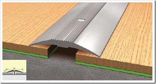 Принципы монтажа алюминиевых порогов