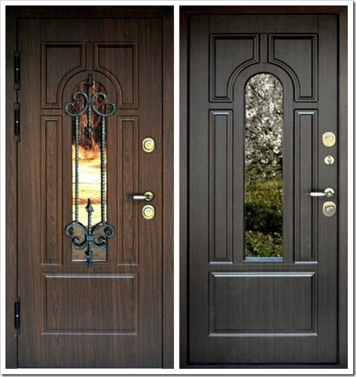 Входные двери со стеклом - виды и где применяются