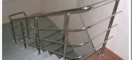 Виды поручней для лестниц из нержавеющей стали и их монтаж