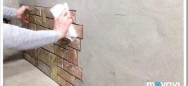 Как клеить самоклеющиеся 3Д панели на стену