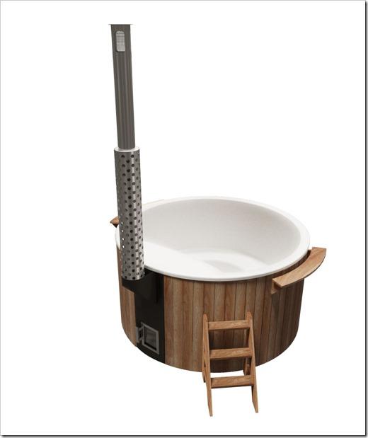 Купель с собственной печью для обогрева