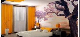 Необычные фотообои в спальню