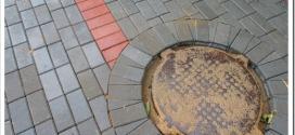 Технология монтажа канализационного люка под тротуарную плитку