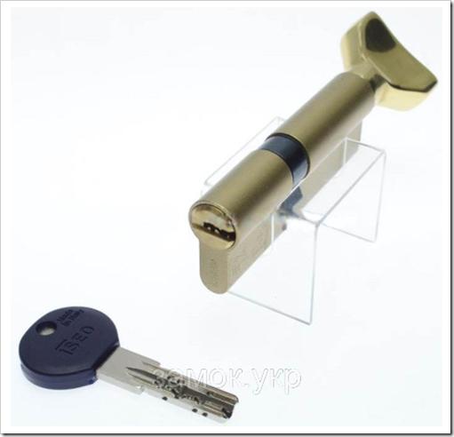 Iseo R7 100мм 45х55 ключ/тумблер латунь (Италия), фото 5