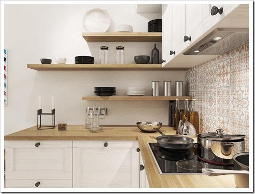 Кухонная мебель и освещение