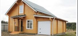 Дома из профилированного бруса с гаражом — особенности проектировния и строительства