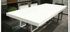 Столы из искусственного камня — современно, красиво и практично